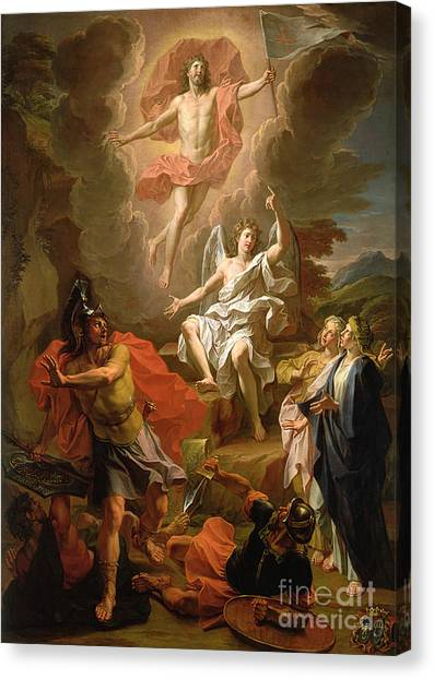 Biblical Canvas Print - The Resurrection Of Christ by Noel Coypel