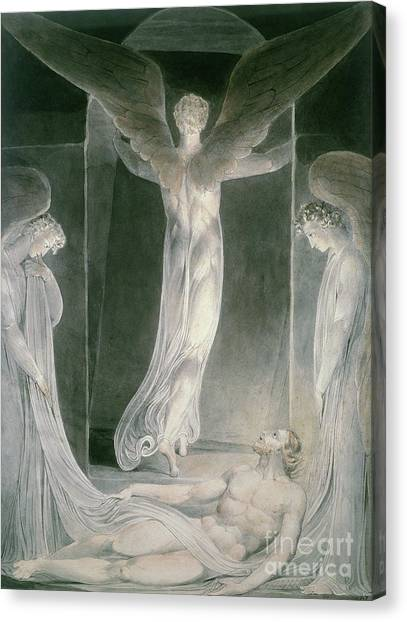Resurrected Canvas Print - The Resurrection by William Blake