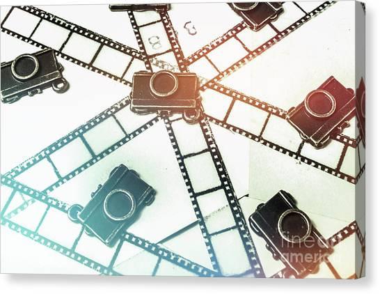 Vintage Camera Canvas Print - The Retro Camera Reel by Jorgo Photography - Wall Art Gallery