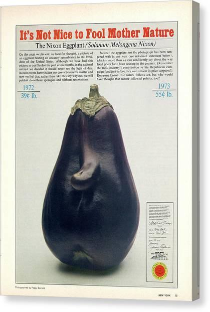 The Richard Nixon Eggplant Canvas Print
