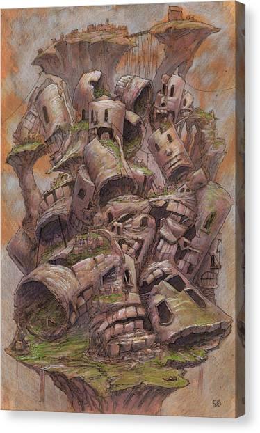 Caverns Canvas Print - The Ridgerest Pile by Ethan Harris