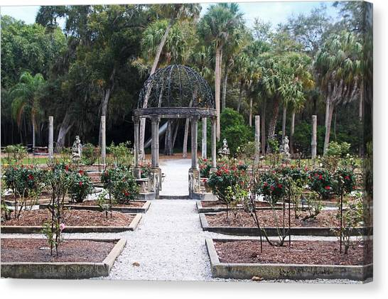 The Ringling Rose Garden Canvas Print