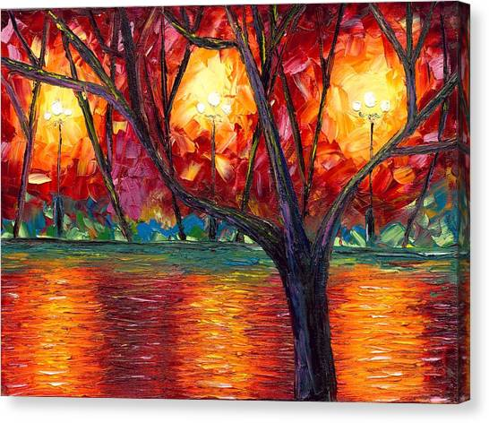 Canvas Print Featuring The Painting Rise Of Fall By Jessilyn Park