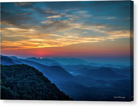The Rising Sun Pretty Place Chapel Greenville S C Great Smoky Mountain Art Canvas Print