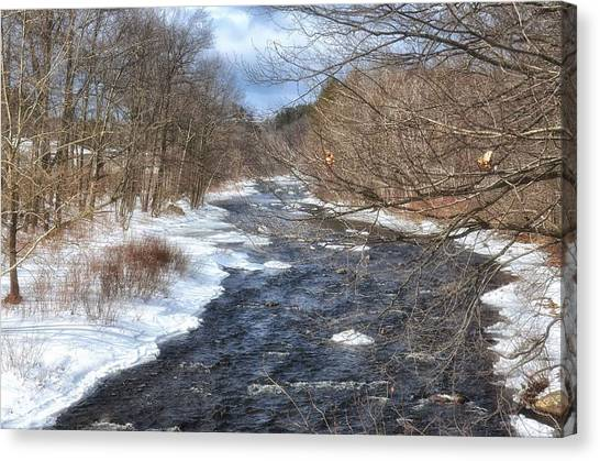 The River In Winter Canvas Print