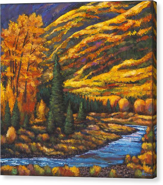 Montana Canvas Print - The River Runs by Johnathan Harris