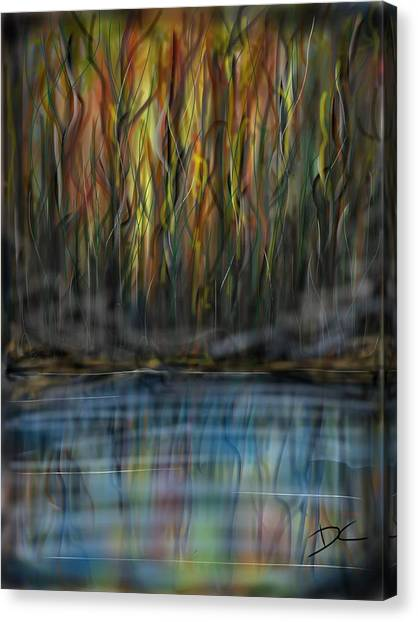 Canvas Print featuring the digital art The River Side by Darren Cannell