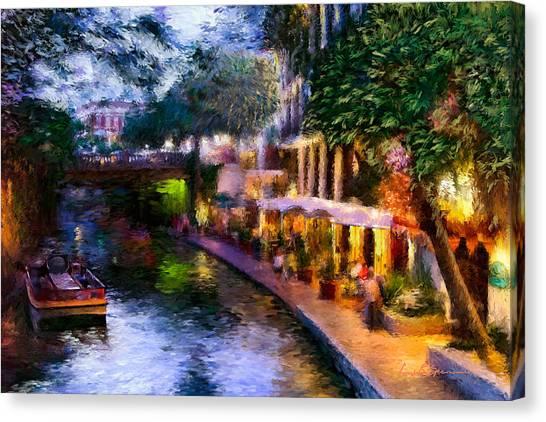 The River Walk Canvas Print