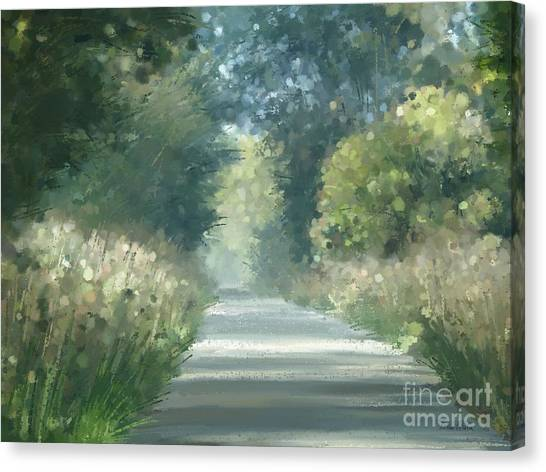 Canvas Print featuring the pastel The Road Back Home by Ivana Westin