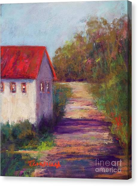 The Road Behind Canvas Print by Joyce A Guariglia