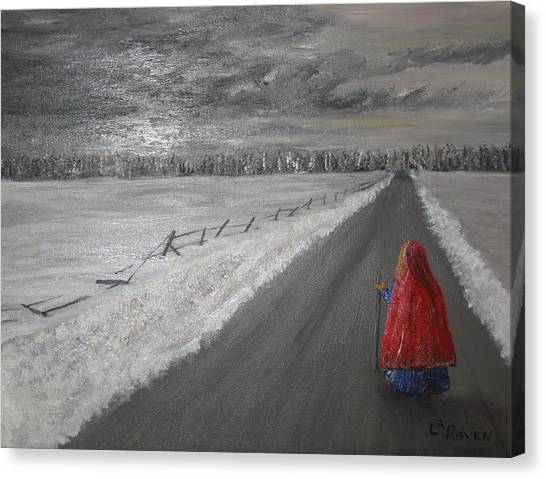 The Road That Must Be Traveled Canvas Print by L A Raven