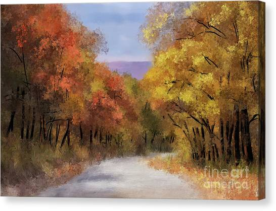 Mountain View Canvas Print - The Road To Blue Knob by Lois Bryan
