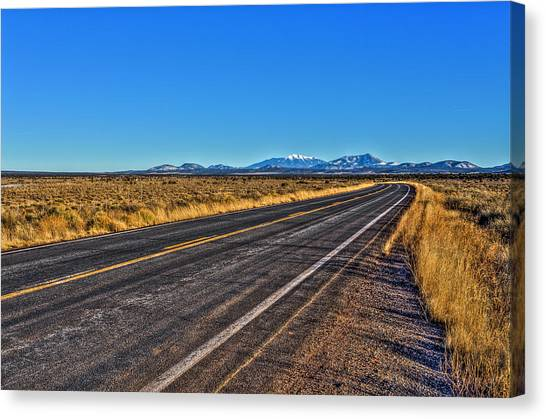 The Road To Flagstaff Canvas Print