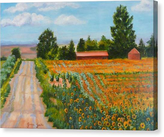 The Road To Happiness Canvas Print by Gloria Smith