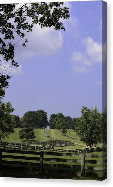 The Road To Lynchburg From Appomattox Virginia Canvas Print