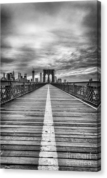 New York Skyline Canvas Print - The Road To Tomorrow by John Farnan