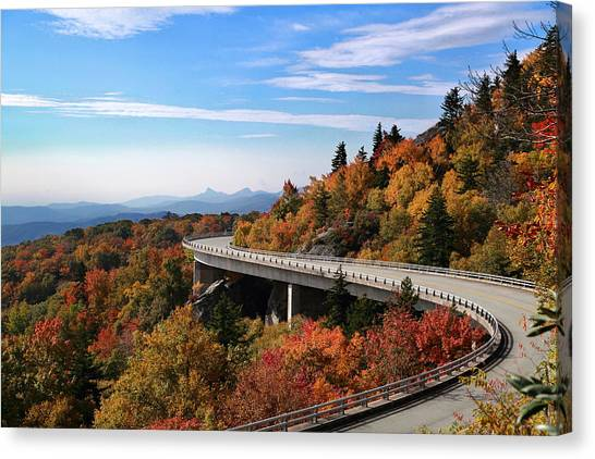 Pisgah National Forest Canvas Print - The Road To Winter by Gary Yost