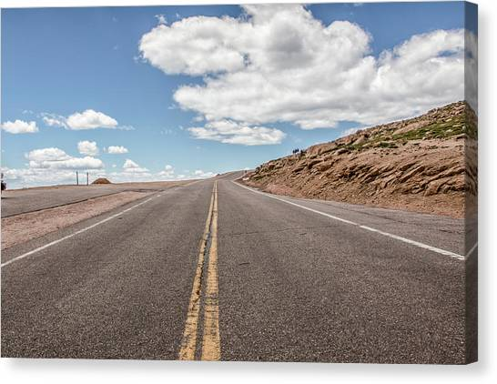 The Road Up Pikes Peak At Around 12,000 Feet Canvas Print