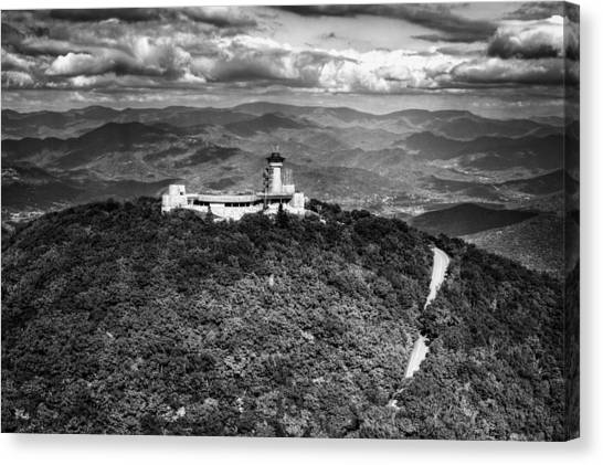 The Road Up To Brasstown Bald In Black And White Canvas Print