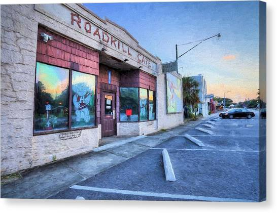 The University Of Alabama Canvas Print - The Roadkill Cafe by JC Findley
