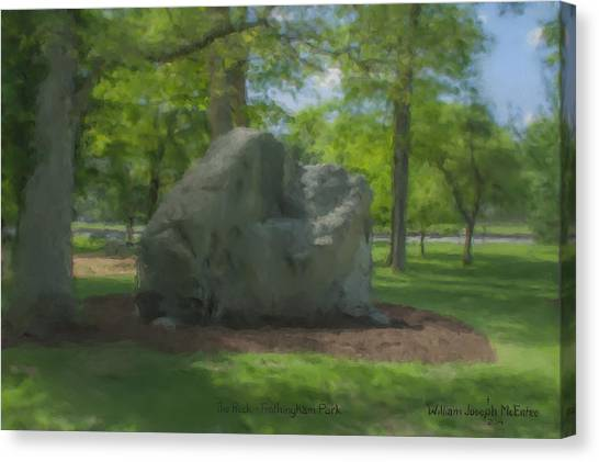 The Rock At Frothingham Park, Easton, Ma Canvas Print