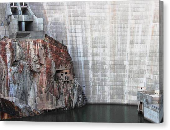 The Rock Behind The Dam Canvas Print
