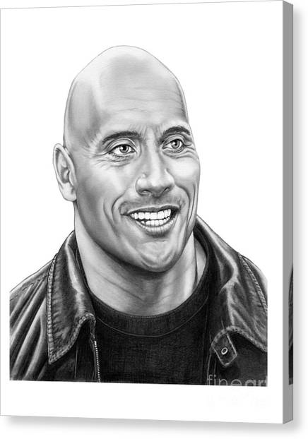 Dwayne Johnson Canvas Print - The Rock-dwayne Johnson by Murphy Elliott