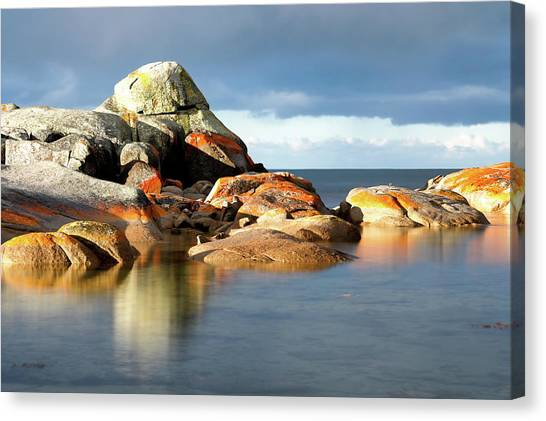 The Rocks And The Water Canvas Print