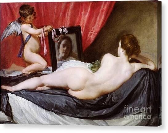 Cupid Canvas Print - The Rokeby Venus by Diego Rodriguez de Silva y Velazquez