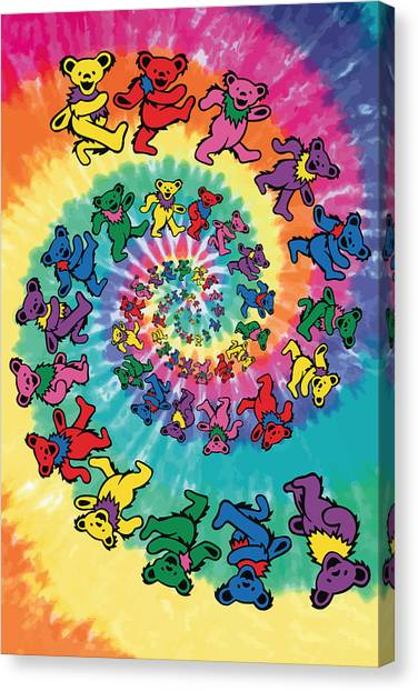 Grateful Dead Canvas Print - The Roller Bears by Gb