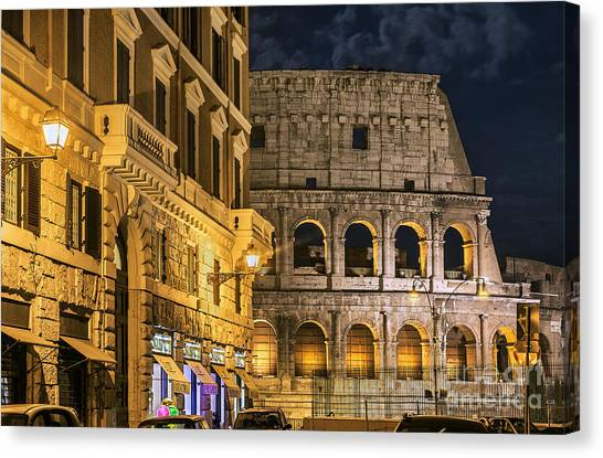 The Colosseum Canvas Print - The Roman Coliseum by John Greim