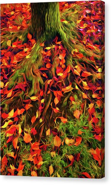 The Root Of Fall Canvas Print