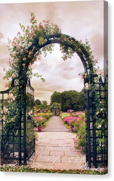 The Rose Allee Canvas Print