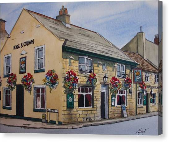 The Rose And Crown Otley Yorkshire Canvas Print by Victoria Heryet