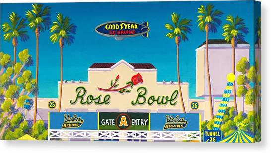 Ucla Canvas Print - The Rose Bowl by Frank Strasser