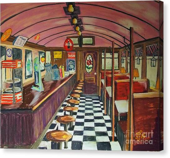The Rose Diner Canvas Print