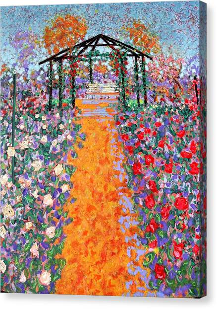 The Rose Garden Canvas Print by Richard Tuvey