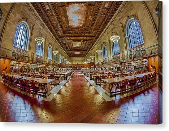 The Rose Main Reading Room Nypl Canvas Print
