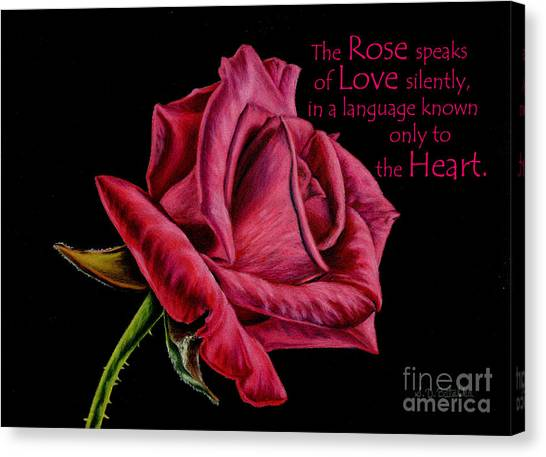 Red Roses Canvas Print - The Rose Speaks  by Sarah Batalka