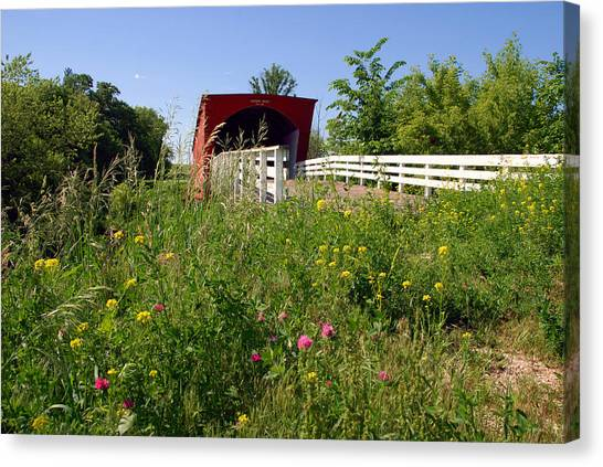 The Roseman Bridge In Madison County Iowa Canvas Print