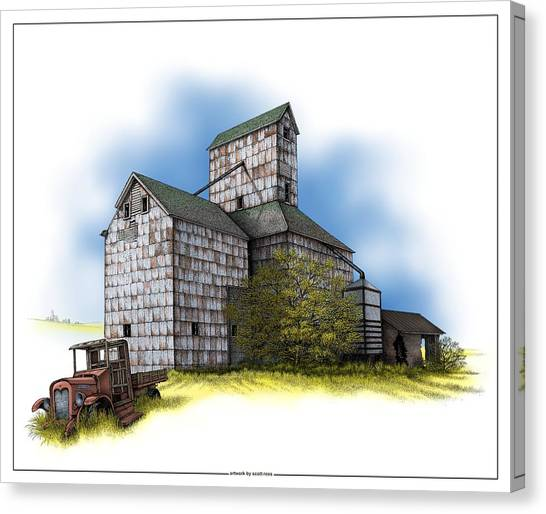 The Ross Elevator Autumn Canvas Print