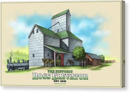 The Ross Elevator Canvas Print
