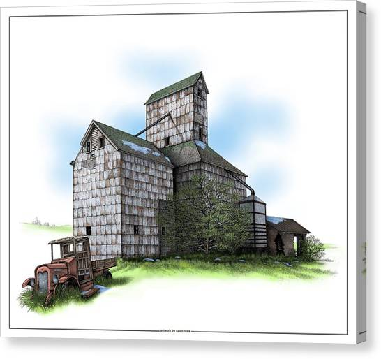 The Ross Elevator Spring Canvas Print