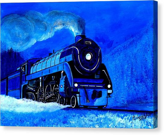The Royal Blue Express Canvas Print