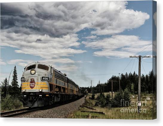 Pacific Division Canvas Print - The Royal Canadian Pacific  by Brad Allen Fine Art
