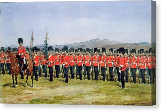 Royal Guard Canvas Print - The Royal Fusiliers by Richard Simkin