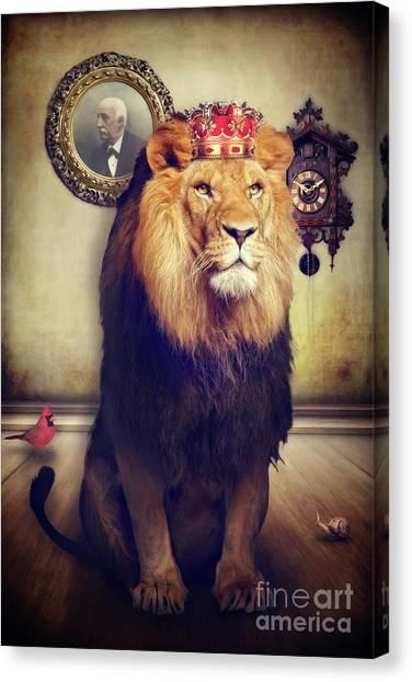 The Royal Lion Canvas Print