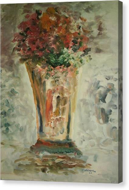 The Ruffled Stem Vase Canvas Print by Edward Wolverton