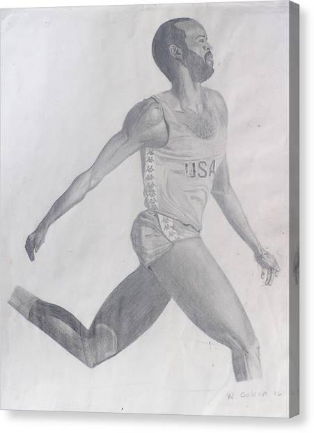 The Runner Canvas Print