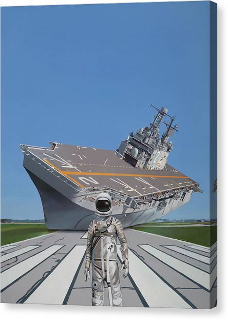 Science Fiction Canvas Print - The Runway by Scott Listfield